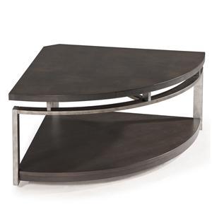 Magnussen Home Alton Pie-shaped Cocktail Table