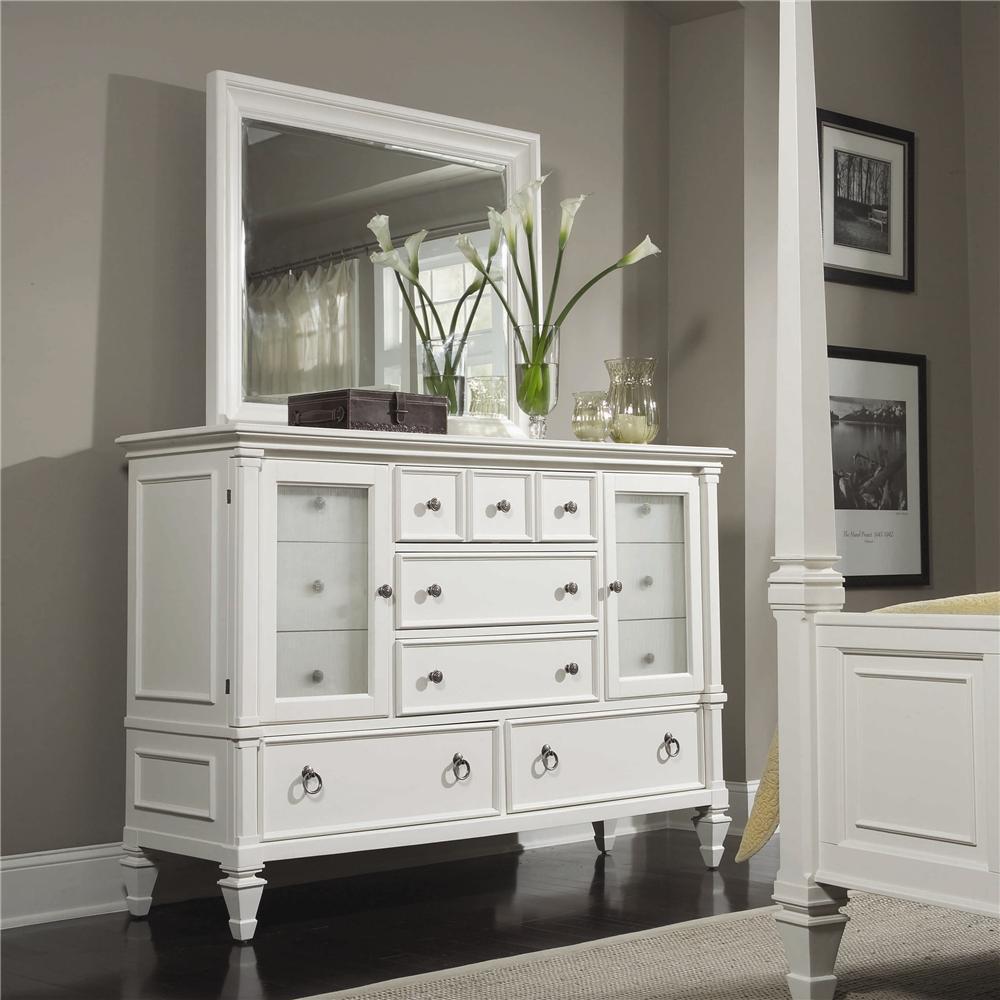 Ashby Dresser and Landscape Mirror by Magnussen Home at Baer's Furniture