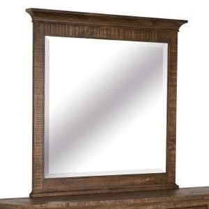 Traditional Landscape Mirror with Crown Molding