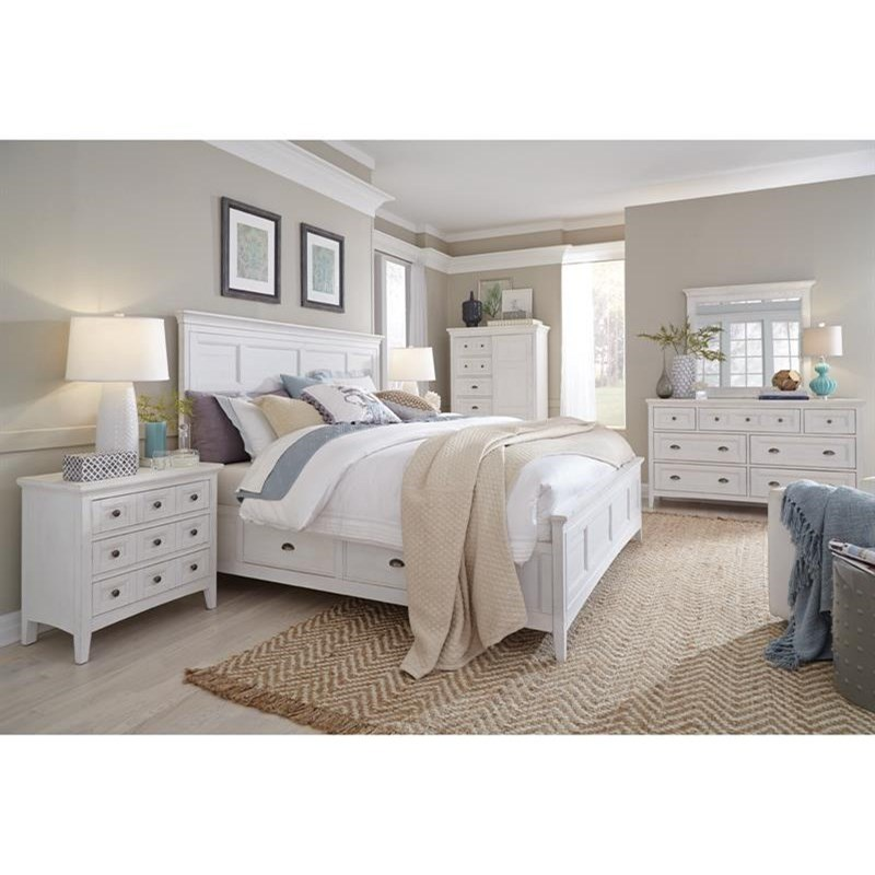 Heron Cove Queen Storage Bedroom Group by Magnussen Home at Stoney Creek Furniture