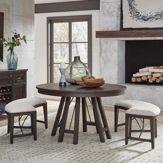 3-Piece Dining Set with Benches