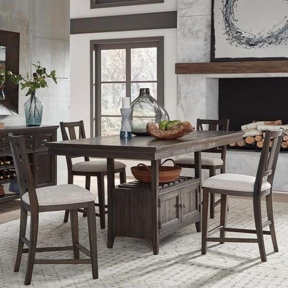 Westley Falls 5-Piece Counter Height Dining Set by Magnussen Home at Upper Room Home Furnishings