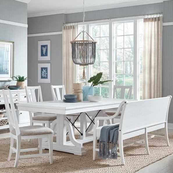 Heron Cove 6-Piece Dining Set w/ Bench by Magnussen Home at Stoney Creek Furniture