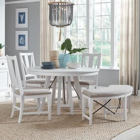 Heron Cove 5-Piece Dining Set with Bench by Magnussen Home at Stoney Creek Furniture