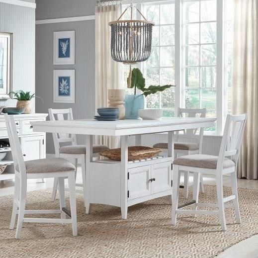 Heron Cove 5-Piece Counter Height Dining Set by Magnussen Home at Stoney Creek Furniture