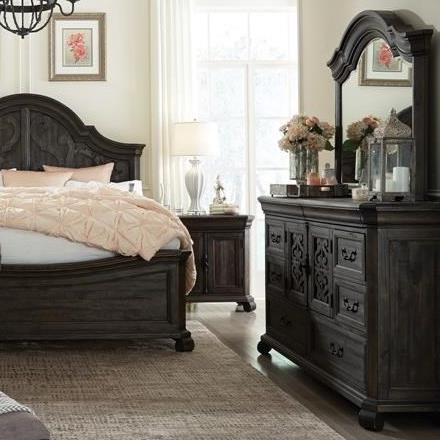 Bellamy Dresser and Mirror Set by Magnussen Home at Stoney Creek Furniture