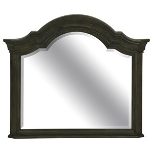 Traditional Shaped Mirror with Crown Molding
