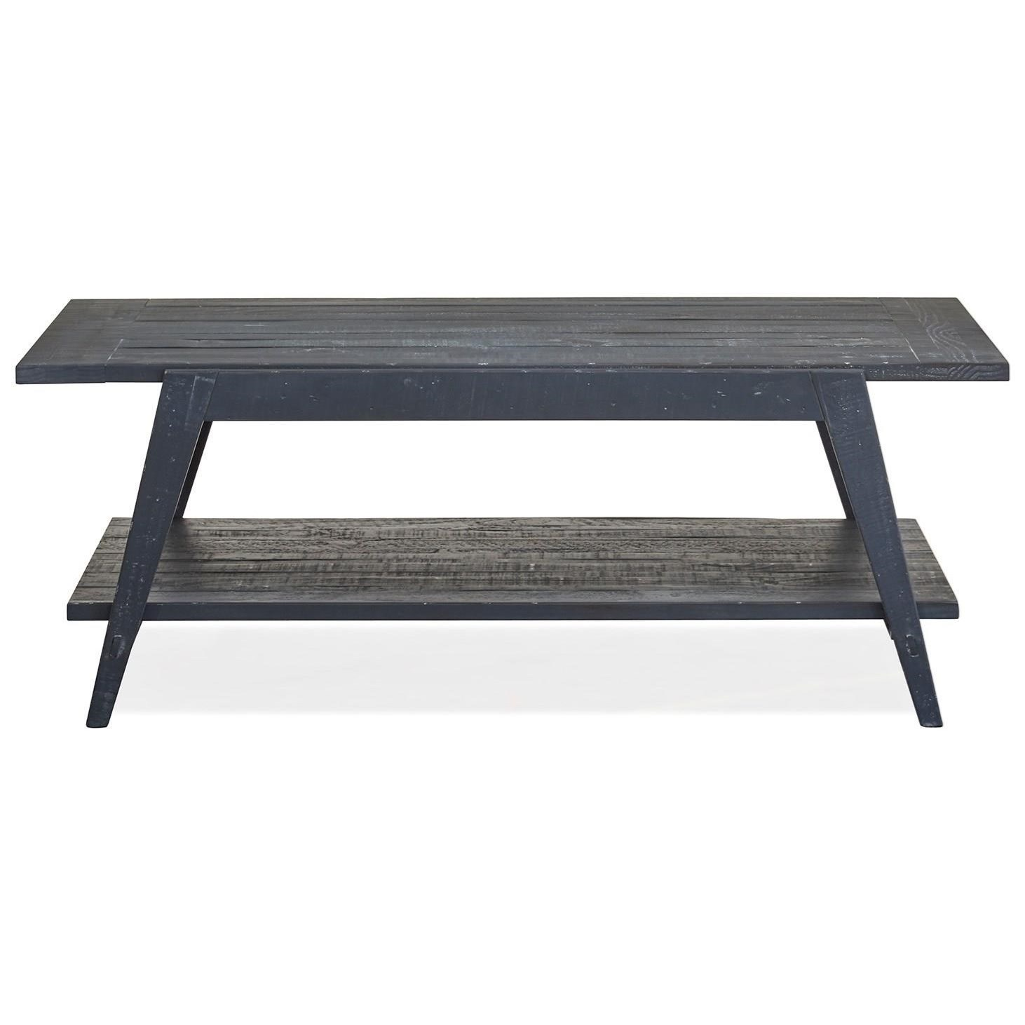 Lake Haven Shelf Cocktail Table by Magnussen Home at Baer's Furniture