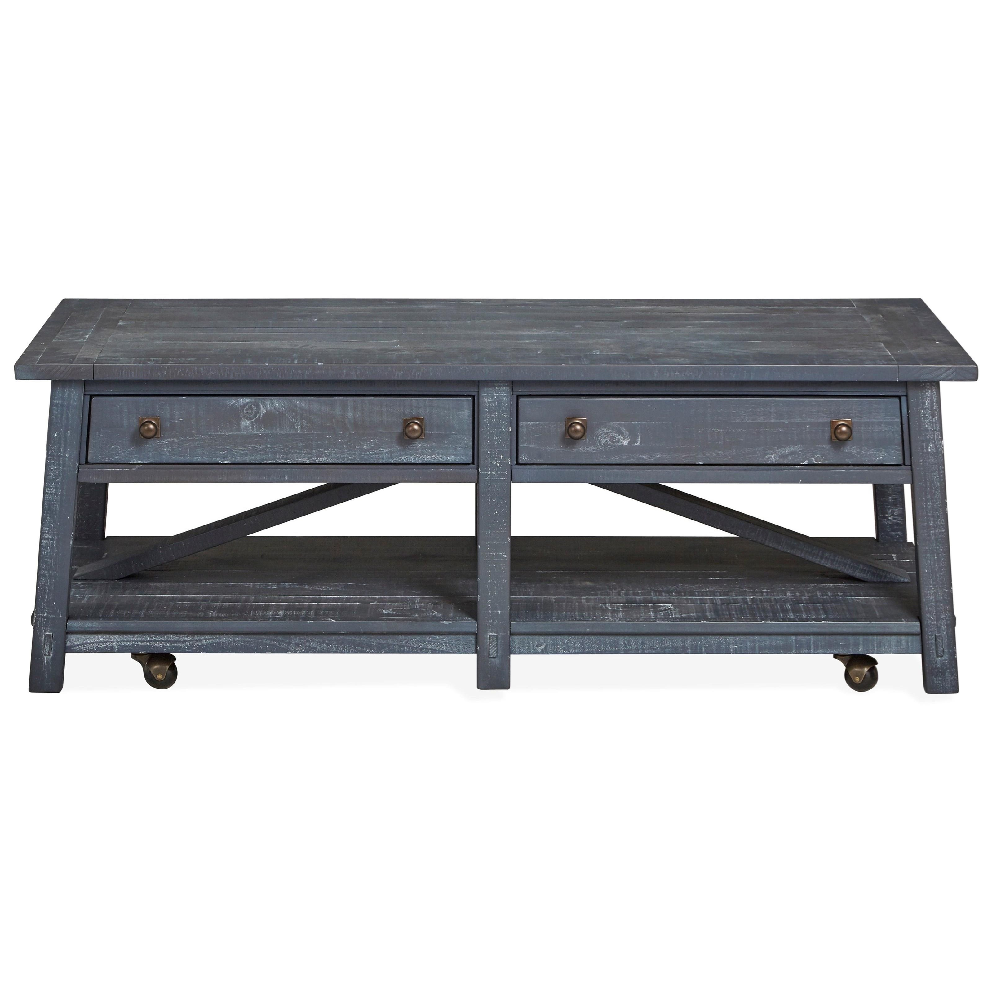 Lake Haven Rectangular Cocktail Table by Magnussen Home at Baer's Furniture