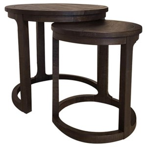 Round Nesting End Table Set