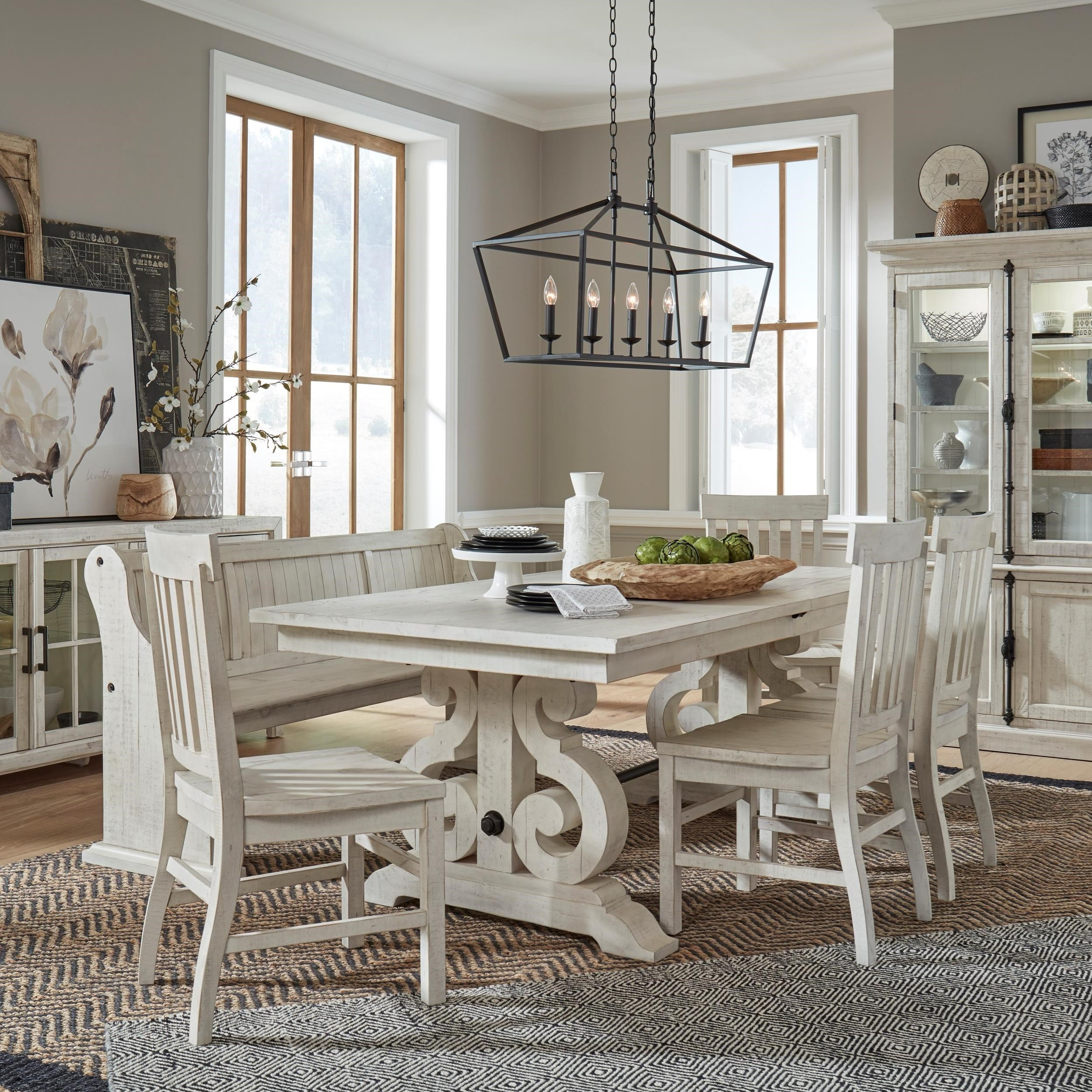 Bronwyn 6-Piece Dining Table Set with Bench by Magnussen Home at Stoney Creek Furniture