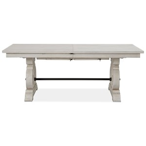 Rectangular Farmhouse Dining Table with Butterfly Leaves