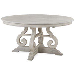 "60"" Round Farmhouse Dining Table"