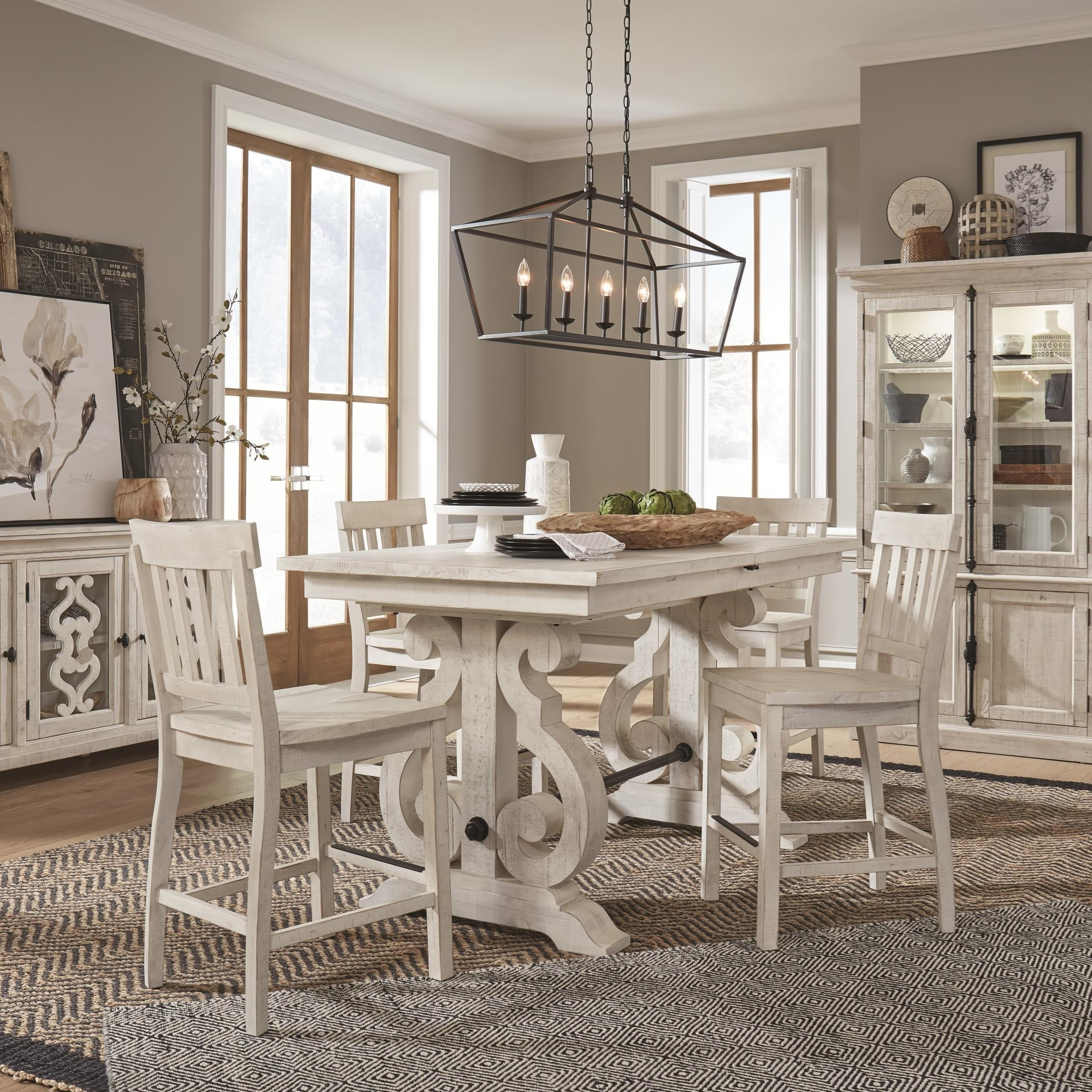 Bronwyn 5-Piece Counter Height Dining Table Set by Magnussen Home at Stoney Creek Furniture
