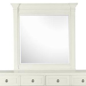 Square Mirror with Wood Frame