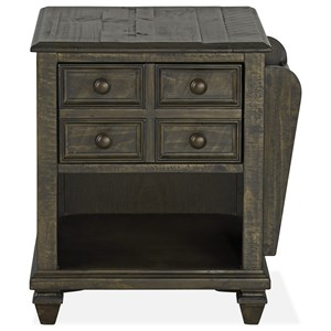 Rustic Magazine End Table with One Drawer