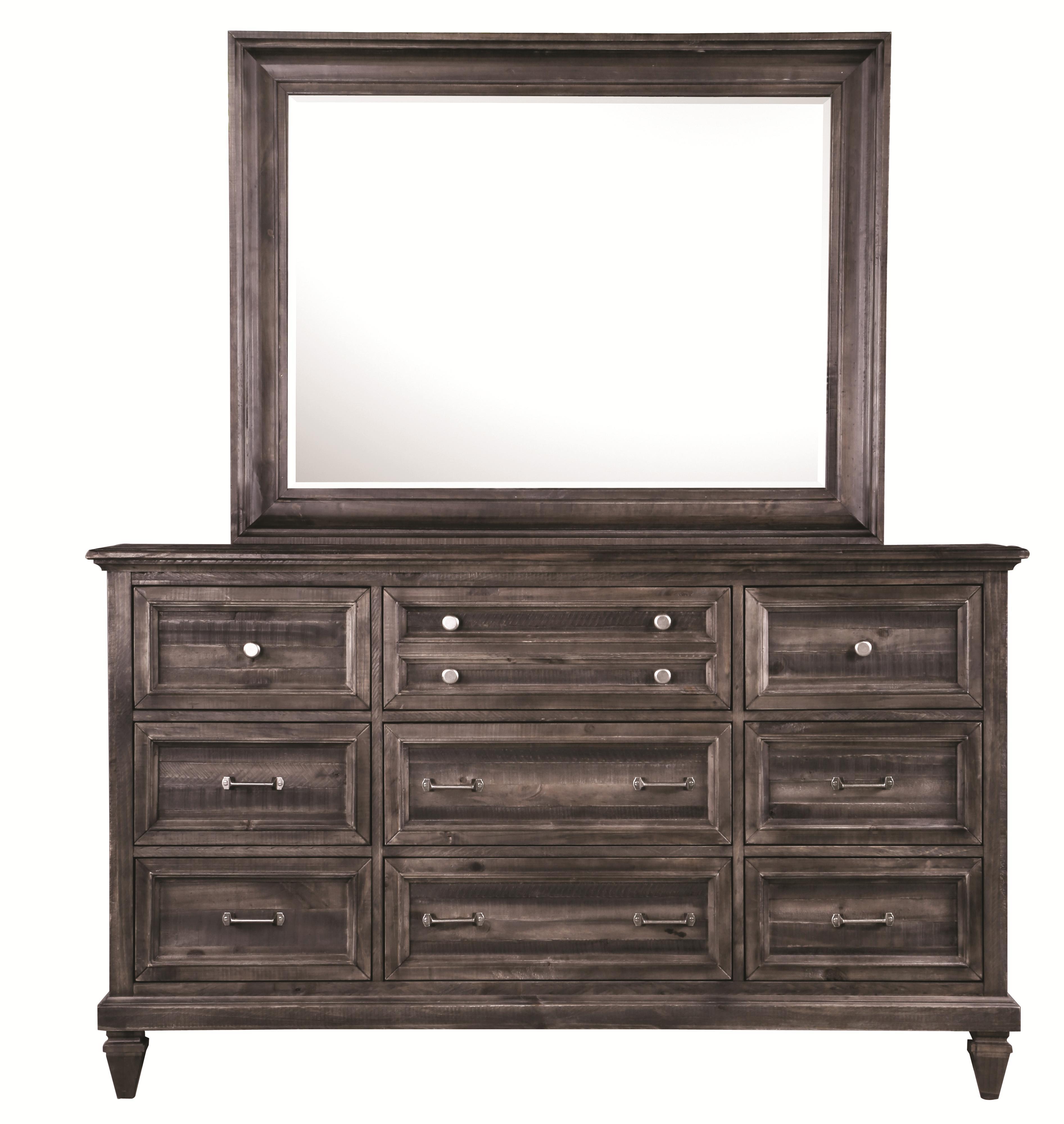 Benton Dresser and Mirror Combo at Walker's Furniture