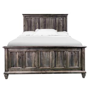 California King Panel Bed with Headboard and Footboard