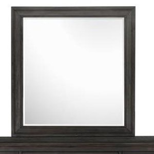 Portrait Mirror with Wood Frame