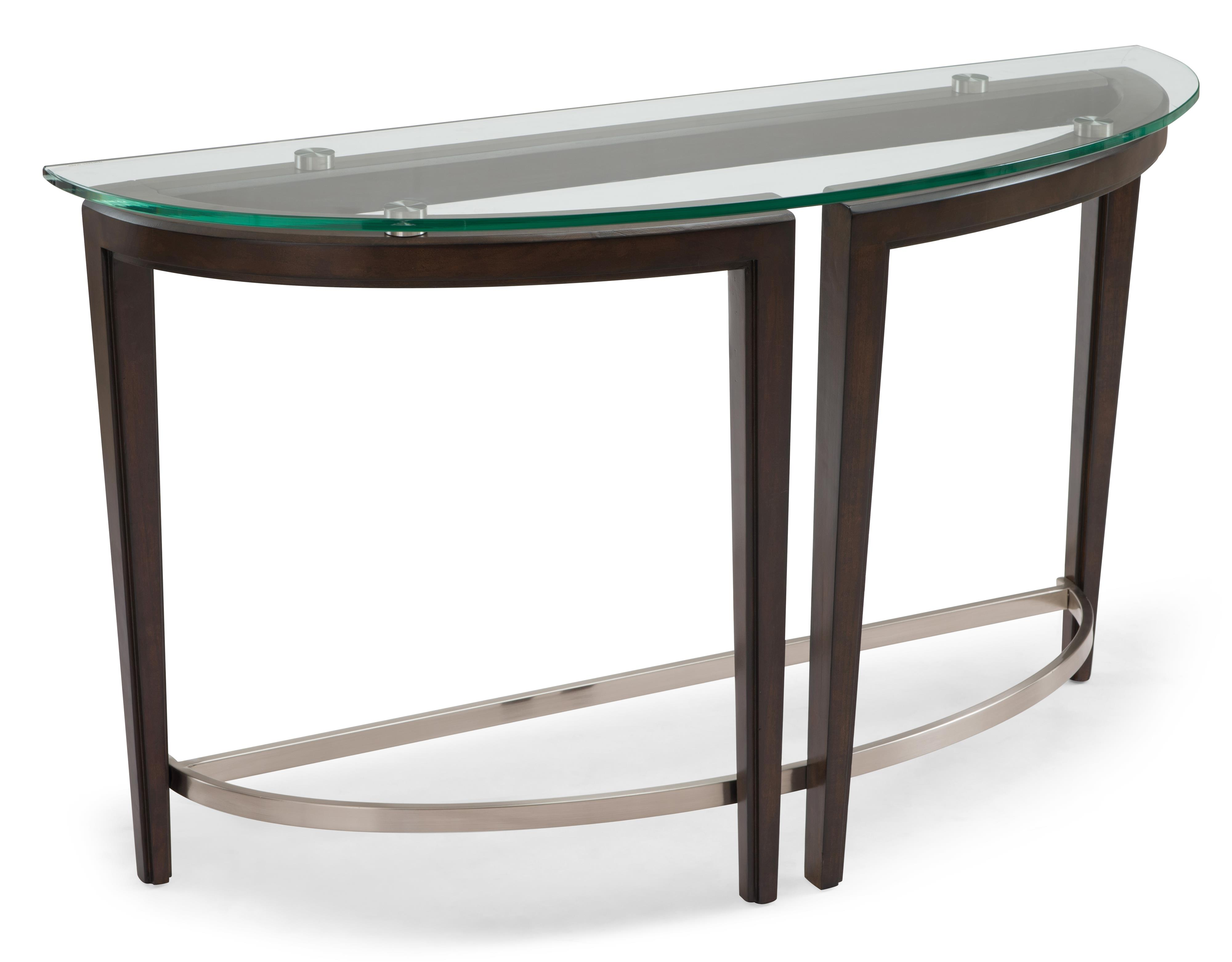 Carmen Demilune Sofa Table by Magnussen Home at Baer's Furniture