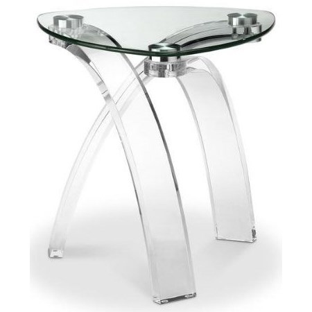 Cassius Glass Top End Table by Magnussen Home at HomeWorld Furniture