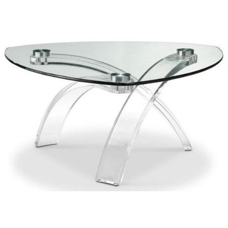 Cassius Glass Top Cocktail Table  by Magnussen Home at Red Knot