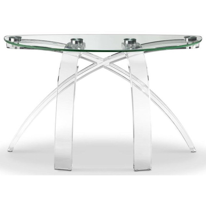 Cassius Glass Top Sofa Table by Magnussen Home at Red Knot