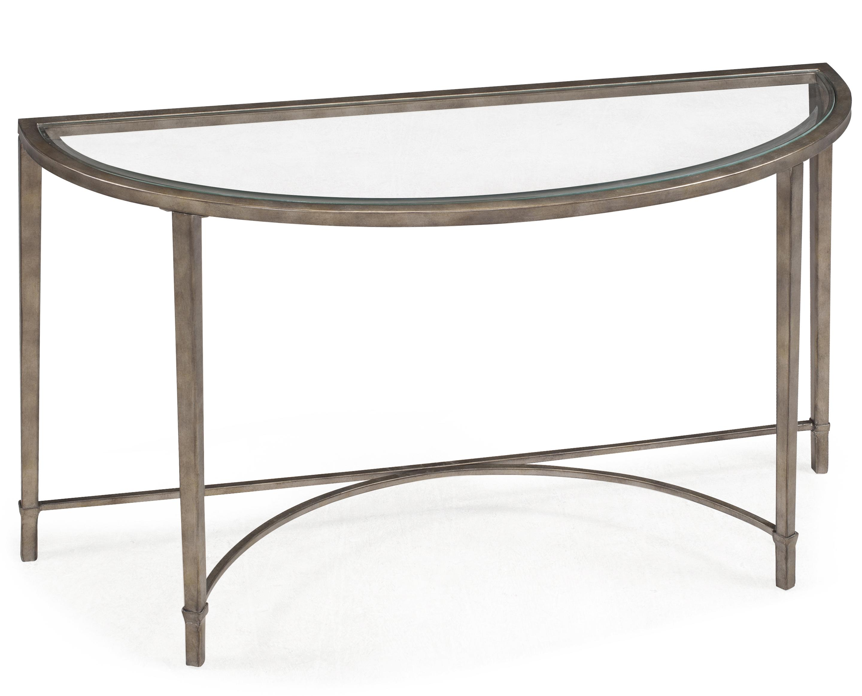 Copia Demilune Sofa Table by Magnussen Home at Mueller Furniture