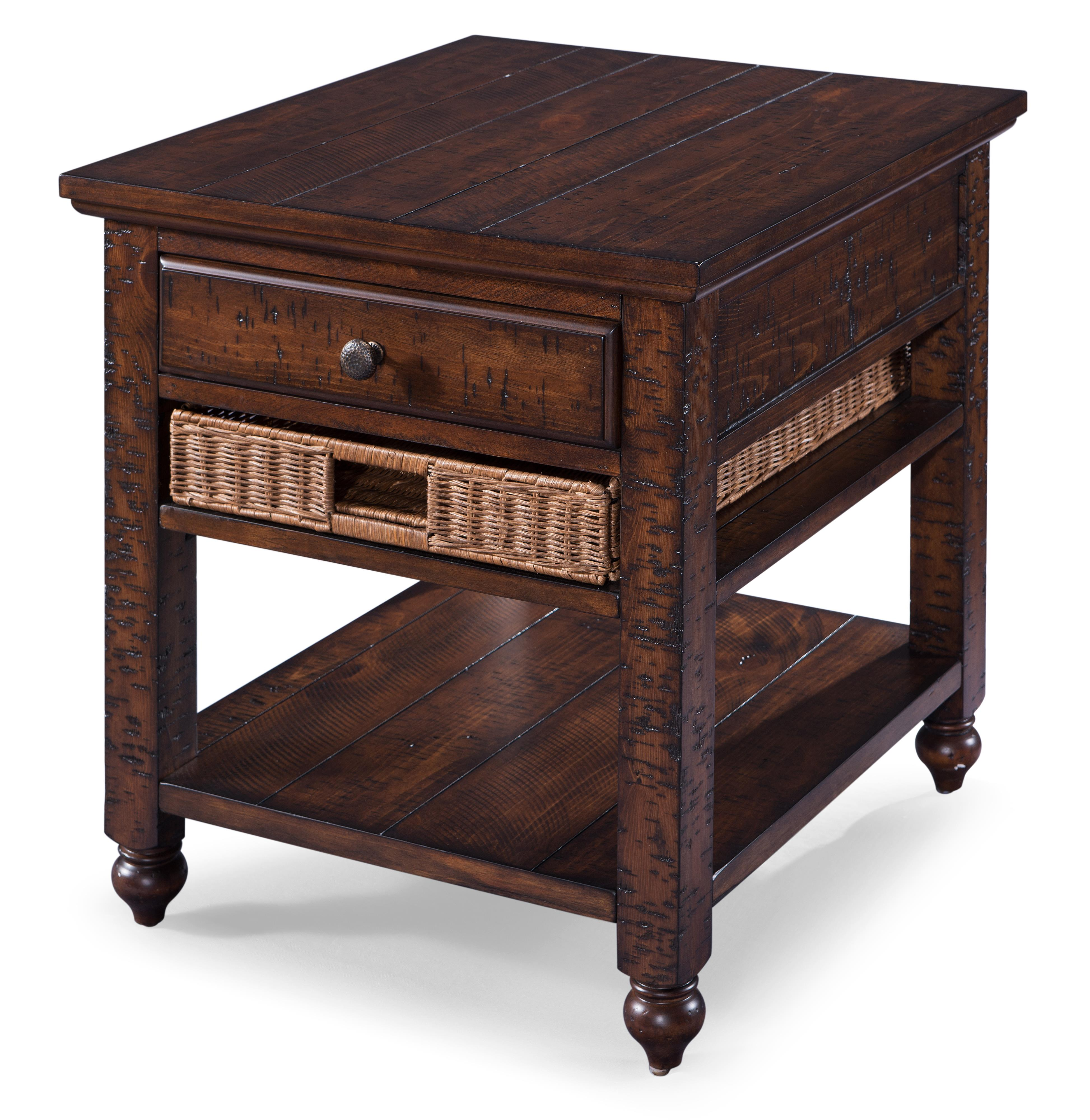 Cottage Lane Rectangular End Table by Magnussen Home at Johnny Janosik