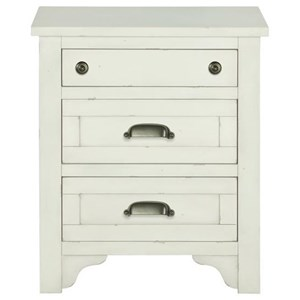 3 Drawer Night Stand with Felt-Lined Drawer