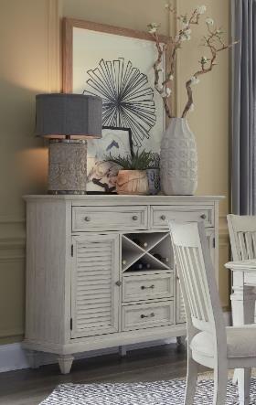 D5430 Alabaster Lancaster Alabaster Server by Magnussen Home at Furniture Fair - North Carolina