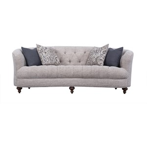 Traditional Kidney Sofa with Tufting