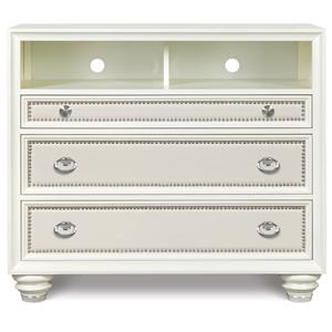 Magnussen Home Diamond Bedroom Media Chest