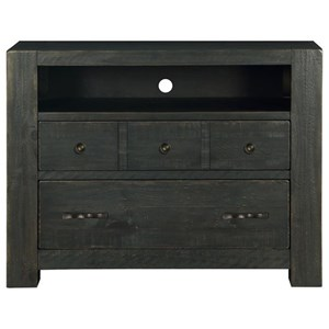 2 Drawer Media Chest with Wire Management