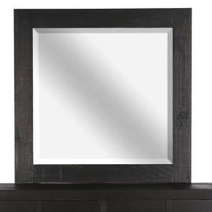 Landscape Mirror with Wood Frame