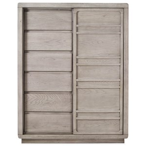 Sliding Door Chest with Adjustable Shelves