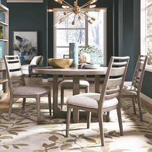 Round Dining Table and Chair Set for Four