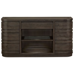 Buffet with Felt-Lined Top Drawer