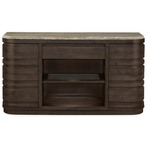 Buffet with Travertine Top