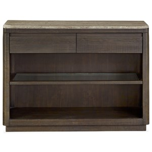 Server with Travertine Top and Felt-Lined Drawers