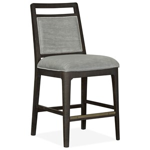 Counter Height Pub Chair with Upholstered Back