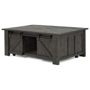 Rectangular Cocktail Table with Lift Top