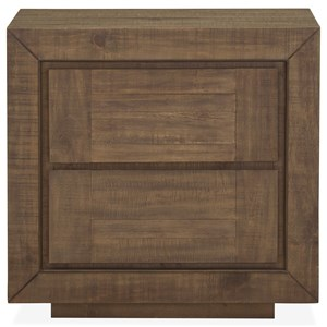 Two Drawer Nightstand with Felt-Lined Top Drawer