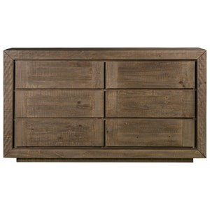 6 Drawer Dresser with Felt-Lined Top Drawer