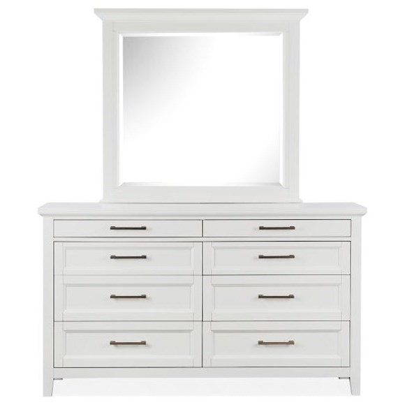 Double Drawer Dresser +Mirror Set