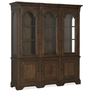 Traditional China Cabinet with Built-in Lights