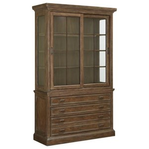 Traditional Sliding Door China Cabinet