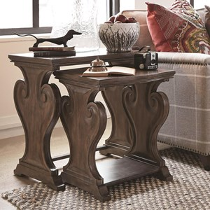 Rustic Nesting End Table