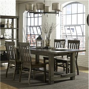 Magnussen Home Karlin 5 Piece Rectangular Table and Chair Set