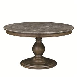 Magnussen Home Karlin Round Dining Table With Bluestone Top